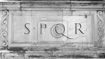 Постер Ватикан Подписка SPQR : Senatus Populusque RomanusВатикан<br>Постер на холсте или бумаге. Любого нужного вам размера. В раме или без. Подвес в комплекте. Трехслойная надежная упаковка. Доставим в любую точку России. Вам осталось только повесить картину на стену!<br>