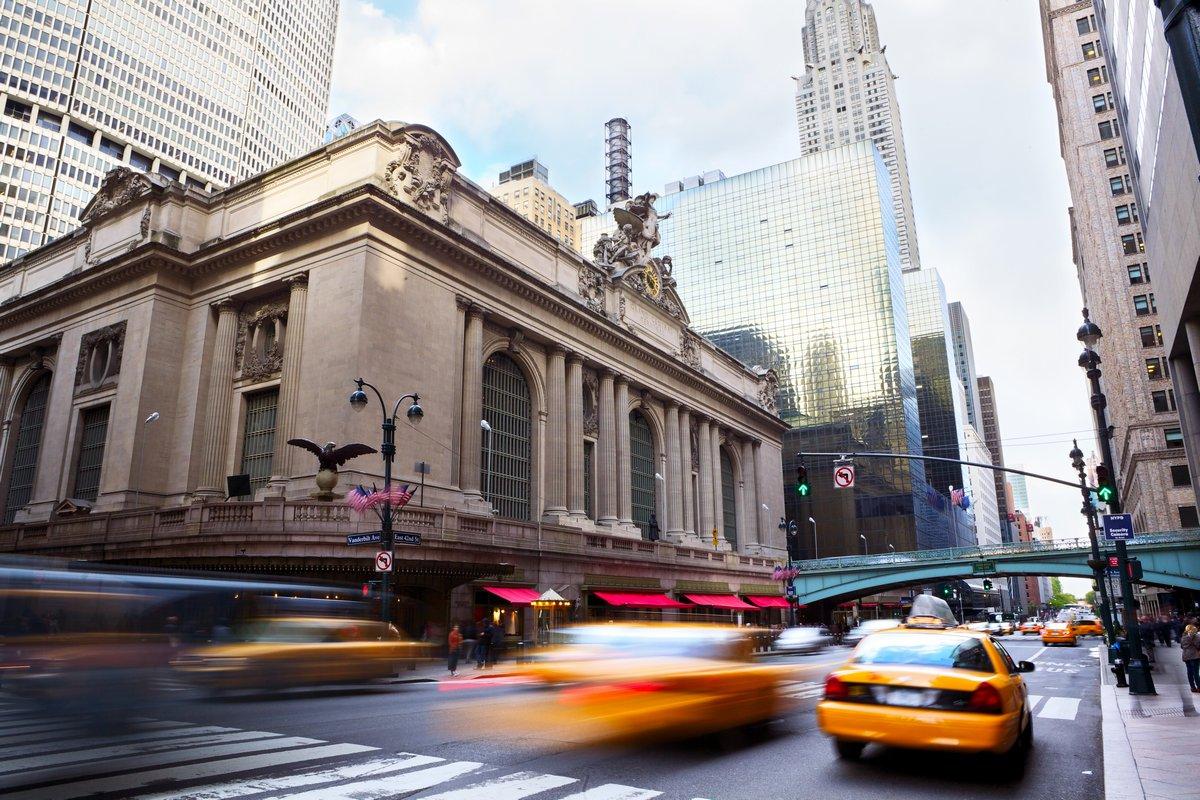Постер Нью-Йорк Grand Central Terminal с трафиком, Нью-Йорк, 30x20 см, на бумагеНью-Йорк<br>Постер на холсте или бумаге. Любого нужного вам размера. В раме или без. Подвес в комплекте. Трехслойная надежная упаковка. Доставим в любую точку России. Вам осталось только повесить картину на стену!<br>