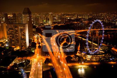 Постер Сингапур Тем Сингапура с крыши Marina Bay отель в ночь.Сингапур<br>Постер на холсте или бумаге. Любого нужного вам размера. В раме или без. Подвес в комплекте. Трехслойная надежная упаковка. Доставим в любую точку России. Вам осталось только повесить картину на стену!<br>
