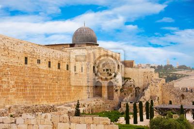 Древний город Иерусалим, город трех религий, 30x20 см, на бумагеИерусалим<br>Постер на холсте или бумаге. Любого нужного вам размера. В раме или без. Подвес в комплекте. Трехслойная надежная упаковка. Доставим в любую точку России. Вам осталось только повесить картину на стену!<br>