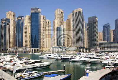 Постер ОАЭ Cityscape Dubai Marina. Яхт-клубОАЭ<br>Постер на холсте или бумаге. Любого нужного вам размера. В раме или без. Подвес в комплекте. Трехслойная надежная упаковка. Доставим в любую точку России. Вам осталось только повесить картину на стену!<br>
