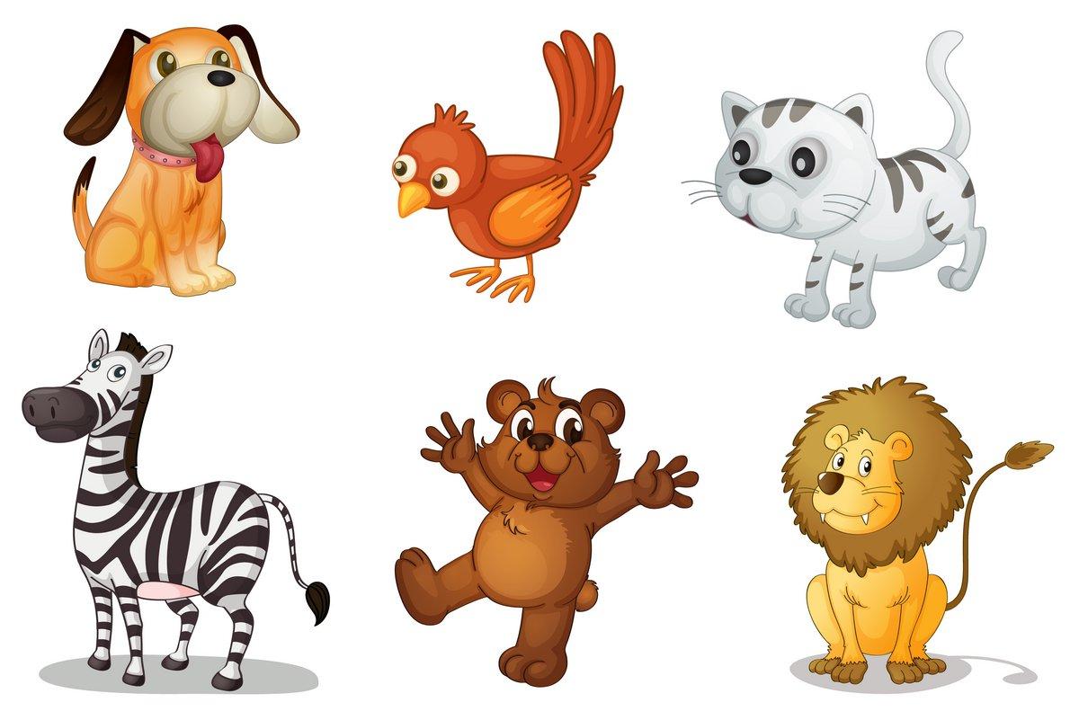 Постер Разные детские постеры Группа животныхРазные детские постеры<br>Постер на холсте или бумаге. Любого нужного вам размера. В раме или без. Подвес в комплекте. Трехслойная надежная упаковка. Доставим в любую точку России. Вам осталось только повесить картину на стену!<br>