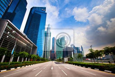 Постер Сингапур Горизонт Сингапура делового района.Сингапур<br>Постер на холсте или бумаге. Любого нужного вам размера. В раме или без. Подвес в комплекте. Трехслойная надежная упаковка. Доставим в любую точку России. Вам осталось только повесить картину на стену!<br>