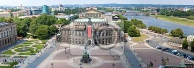 Постер Дрезден Панорама Дрезден, Semper Opera House,Дрезден<br>Постер на холсте или бумаге. Любого нужного вам размера. В раме или без. Подвес в комплекте. Трехслойная надежная упаковка. Доставим в любую точку России. Вам осталось только повесить картину на стену!<br>