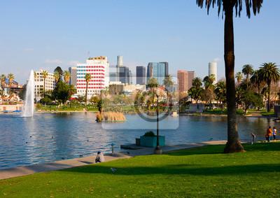 Постер Страны Los Angeles downtown, 28x20 см, на бумагеСША<br>Постер на холсте или бумаге. Любого нужного вам размера. В раме или без. Подвес в комплекте. Трехслойная надежная упаковка. Доставим в любую точку России. Вам осталось только повесить картину на стену!<br>
