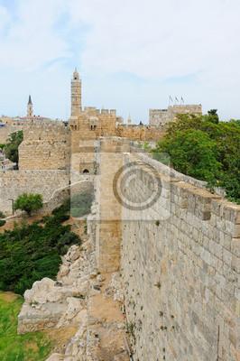 Постер Иерусалим Давида toweИерусалим<br>Постер на холсте или бумаге. Любого нужного вам размера. В раме или без. Подвес в комплекте. Трехслойная надежная упаковка. Доставим в любую точку России. Вам осталось только повесить картину на стену!<br>