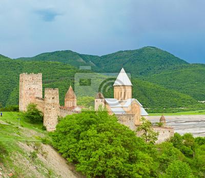 Замок с церковью в Кавказском регионе, 23x20 см, на бумагеГрузия<br>Постер на холсте или бумаге. Любого нужного вам размера. В раме или без. Подвес в комплекте. Трехслойная надежная упаковка. Доставим в любую точку России. Вам осталось только повесить картину на стену!<br>