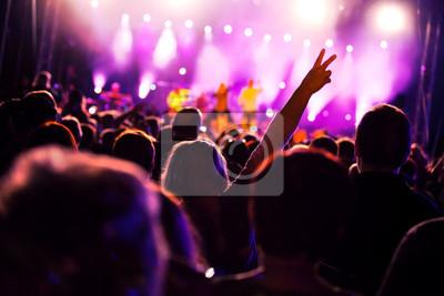 Люди веселятся на концерт музыки и/или диско, 30x20 см, на бумагеМузыка<br>Постер на холсте или бумаге. Любого нужного вам размера. В раме или без. Подвес в комплекте. Трехслойная надежная упаковка. Доставим в любую точку России. Вам осталось только повесить картину на стену!<br>