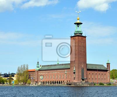 Постер Стокгольм City Hall в СтокгольмеСтокгольм<br>Постер на холсте или бумаге. Любого нужного вам размера. В раме или без. Подвес в комплекте. Трехслойная надежная упаковка. Доставим в любую точку России. Вам осталось только повесить картину на стену!<br>