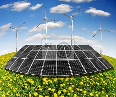 Постер Одуванчики Солнечная энергия панели и ветряные турбиныОдуванчики<br>Постер на холсте или бумаге. Любого нужного вам размера. В раме или без. Подвес в комплекте. Трехслойная надежная упаковка. Доставим в любую точку России. Вам осталось только повесить картину на стену!<br>