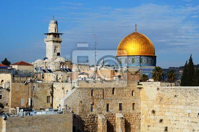 Постер Израиль Храмовая Гора в Иерусалиме, ИзраильИзраиль<br>Постер на холсте или бумаге. Любого нужного вам размера. В раме или без. Подвес в комплекте. Трехслойная надежная упаковка. Доставим в любую точку России. Вам осталось только повесить картину на стену!<br>