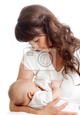 Постер Молодая мать груди кормления своего ребенкаДети<br>Постер на холсте или бумаге. Любого нужного вам размера. В раме или без. Подвес в комплекте. Трехслойная надежная упаковка. Доставим в любую точку России. Вам осталось только повесить картину на стену!<br>