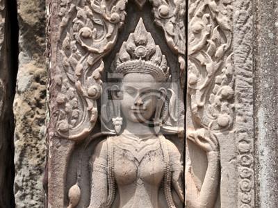Постер Камбоджа Дэвата Байон Храм Ангкор Тхом, КамбоджаКамбоджа<br>Постер на холсте или бумаге. Любого нужного вам размера. В раме или без. Подвес в комплекте. Трехслойная надежная упаковка. Доставим в любую точку России. Вам осталось только повесить картину на стену!<br>