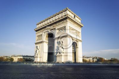 Постер Париж Триумфальная арка в Париже, ФранцияПариж<br>Постер на холсте или бумаге. Любого нужного вам размера. В раме или без. Подвес в комплекте. Трехслойная надежная упаковка. Доставим в любую точку России. Вам осталось только повесить картину на стену!<br>