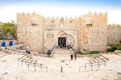 Постер Города и карты Дамасские ворота, Иерусалим, Израиль, 30x20 см, на бумагеИерусалим<br>Постер на холсте или бумаге. Любого нужного вам размера. В раме или без. Подвес в комплекте. Трехслойная надежная упаковка. Доставим в любую точку России. Вам осталось только повесить картину на стену!<br>