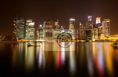 Постер Сингапур Вид Сингапура в ночное время.Сингапур<br>Постер на холсте или бумаге. Любого нужного вам размера. В раме или без. Подвес в комплекте. Трехслойная надежная упаковка. Доставим в любую точку России. Вам осталось только повесить картину на стену!<br>