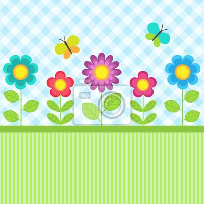 Цветы и бабочки, 60x60 см, обоиДизайнерские обои для детской<br>Постер на холсте или бумаге. Любого нужного вам размера. В раме или без. Подвес в комплекте. Трехслойная надежная упаковка. Доставим в любую точку России. Вам осталось только повесить картину на стену!<br>