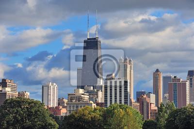 Постер Города и карты Чикаго skyline, 30x20 см, на бумагеЧикаго<br>Постер на холсте или бумаге. Любого нужного вам размера. В раме или без. Подвес в комплекте. Трехслойная надежная упаковка. Доставим в любую точку России. Вам осталось только повесить картину на стену!<br>