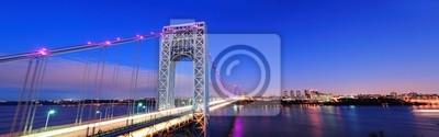 Постер Нью-Йорк Мост Джорджа Вашингтона, панорамаНью-Йорк<br>Постер на холсте или бумаге. Любого нужного вам размера. В раме или без. Подвес в комплекте. Трехслойная надежная упаковка. Доставим в любую точку России. Вам осталось только повесить картину на стену!<br>