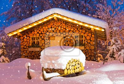 Постер Германия Лыжные хижины зимой РождествоГермания<br>Постер на холсте или бумаге. Любого нужного вам размера. В раме или без. Подвес в комплекте. Трехслойная надежная упаковка. Доставим в любую точку России. Вам осталось только повесить картину на стену!<br>