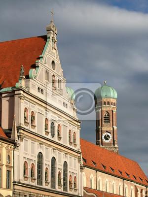 Постер Мюнхен Michaelskirche и ФрауенкирхеМюнхен<br>Постер на холсте или бумаге. Любого нужного вам размера. В раме или без. Подвес в комплекте. Трехслойная надежная упаковка. Доставим в любую точку России. Вам осталось только повесить картину на стену!<br>