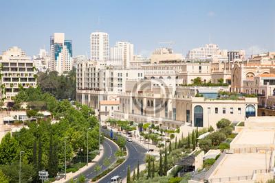 Постер Иерусалим Иерусалим современный квартал недалеко от старого города.Иерусалим<br>Постер на холсте или бумаге. Любого нужного вам размера. В раме или без. Подвес в комплекте. Трехслойная надежная упаковка. Доставим в любую точку России. Вам осталось только повесить картину на стену!<br>