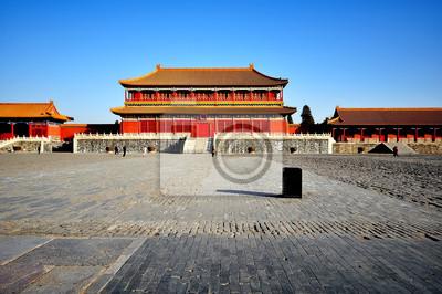 Постер Пекин Запретный Город в Пекине, КитайПекин<br>Постер на холсте или бумаге. Любого нужного вам размера. В раме или без. Подвес в комплекте. Трехслойная надежная упаковка. Доставим в любую точку России. Вам осталось только повесить картину на стену!<br>