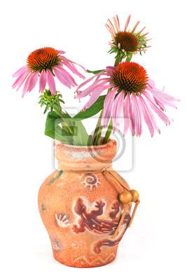 Постер Эхинацея Букет цветов из Echinacea purpurea в глиняной вазеЭхинацея<br>Постер на холсте или бумаге. Любого нужного вам размера. В раме или без. Подвес в комплекте. Трехслойная надежная упаковка. Доставим в любую точку России. Вам осталось только повесить картину на стену!<br>