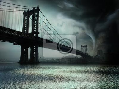Постер Ураган, буря, торнадо Торнадо Нью Йорке NYУраган, буря, торнадо<br>Постер на холсте или бумаге. Любого нужного вам размера. В раме или без. Подвес в комплекте. Трехслойная надежная упаковка. Доставим в любую точку России. Вам осталось только повесить картину на стену!<br>