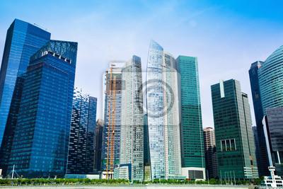 Постер Сингапур Небоскребы делового района Сингапура, СингапурСингапур<br>Постер на холсте или бумаге. Любого нужного вам размера. В раме или без. Подвес в комплекте. Трехслойная надежная упаковка. Доставим в любую точку России. Вам осталось только повесить картину на стену!<br>