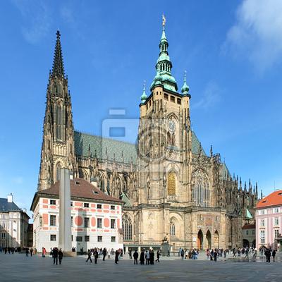 Постер Прага Собор Святого Вита в Праге, Чешская РеспубликаПрага<br>Постер на холсте или бумаге. Любого нужного вам размера. В раме или без. Подвес в комплекте. Трехслойная надежная упаковка. Доставим в любую точку России. Вам осталось только повесить картину на стену!<br>