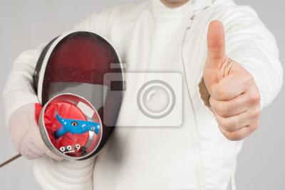 Постер Спорт Постер 42939877, 30x20 см, на бумагеФехтование<br>Постер на холсте или бумаге. Любого нужного вам размера. В раме или без. Подвес в комплекте. Трехслойная надежная упаковка. Доставим в любую точку России. Вам осталось только повесить картину на стену!<br>