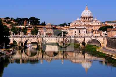 Постер Рим Вид на Ватикан от Понте Умберто I, Рим, ИталияРим<br>Постер на холсте или бумаге. Любого нужного вам размера. В раме или без. Подвес в комплекте. Трехслойная надежная упаковка. Доставим в любую точку России. Вам осталось только повесить картину на стену!<br>