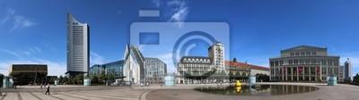 Постер Германия Leipzig City-ПанорамаГермания<br>Постер на холсте или бумаге. Любого нужного вам размера. В раме или без. Подвес в комплекте. Трехслойная надежная упаковка. Доставим в любую точку России. Вам осталось только повесить картину на стену!<br>