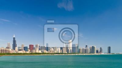 Постер Чикаго Чикаго Skyline - ИллинойсЧикаго<br>Постер на холсте или бумаге. Любого нужного вам размера. В раме или без. Подвес в комплекте. Трехслойная надежная упаковка. Доставим в любую точку России. Вам осталось только повесить картину на стену!<br>