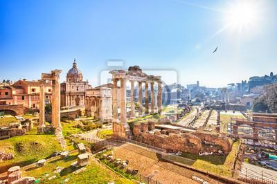 Постер Города и карты Римские развалины в Риме, Форум, 30x20 см, на бумагеРим<br>Постер на холсте или бумаге. Любого нужного вам размера. В раме или без. Подвес в комплекте. Трехслойная надежная упаковка. Доставим в любую точку России. Вам осталось только повесить картину на стену!<br>