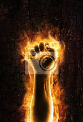 Постер Огонь Fist of fireОгонь<br>Постер на холсте или бумаге. Любого нужного вам размера. В раме или без. Подвес в комплекте. Трехслойная надежная упаковка. Доставим в любую точку России. Вам осталось только повесить картину на стену!<br>