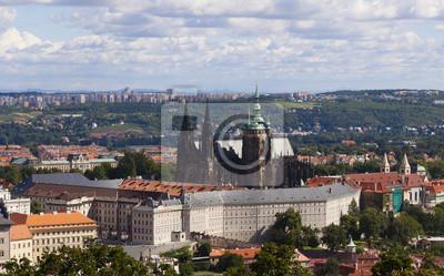 Постер Прага Panorama в Праге, Чешская РеспубликаПрага<br>Постер на холсте или бумаге. Любого нужного вам размера. В раме или без. Подвес в комплекте. Трехслойная надежная упаковка. Доставим в любую точку России. Вам осталось только повесить картину на стену!<br>