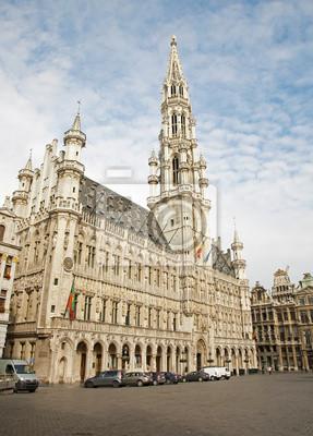 Постер Страны Брюссель - Центральная площадь и ратуша, 20x28 см, на бумагеБельгия<br>Постер на холсте или бумаге. Любого нужного вам размера. В раме или без. Подвес в комплекте. Трехслойная надежная упаковка. Доставим в любую точку России. Вам осталось только повесить картину на стену!<br>