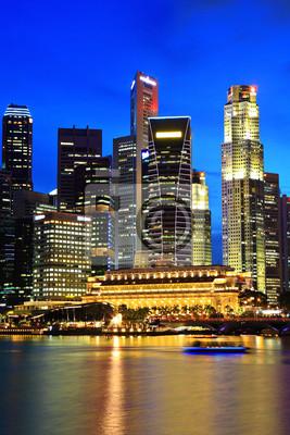 Постер Города и карты Сингапур-город ночью, 20x30 см, на бумагеСингапур<br>Постер на холсте или бумаге. Любого нужного вам размера. В раме или без. Подвес в комплекте. Трехслойная надежная упаковка. Доставим в любую точку России. Вам осталось только повесить картину на стену!<br>