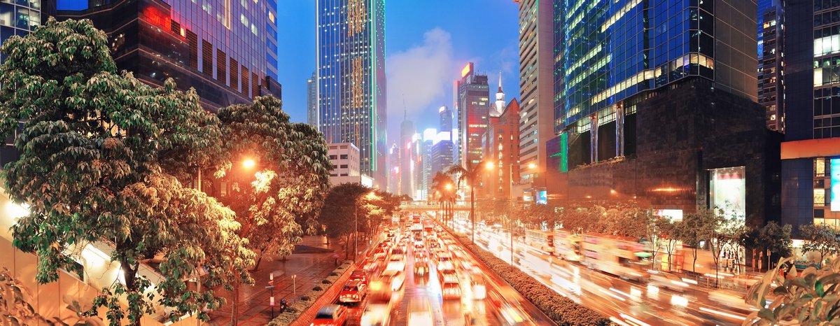 Постер Гонконг Гонконг street viewГонконг<br>Постер на холсте или бумаге. Любого нужного вам размера. В раме или без. Подвес в комплекте. Трехслойная надежная упаковка. Доставим в любую точку России. Вам осталось только повесить картину на стену!<br>