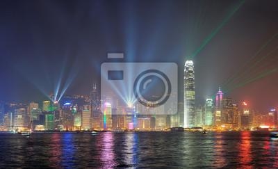 Постер Города и карты Гонконг ночью, 33x20 см, на бумагеГонконг<br>Постер на холсте или бумаге. Любого нужного вам размера. В раме или без. Подвес в комплекте. Трехслойная надежная упаковка. Доставим в любую точку России. Вам осталось только повесить картину на стену!<br>