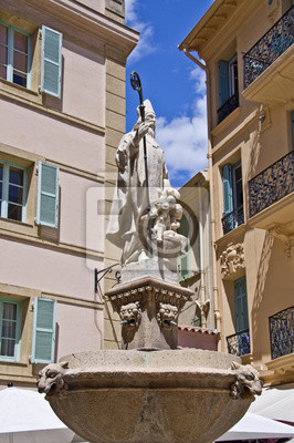 Постер Монако Статуя de Saint Nicolas, place Saint Nicolas - МонакоМонако<br>Постер на холсте или бумаге. Любого нужного вам размера. В раме или без. Подвес в комплекте. Трехслойная надежная упаковка. Доставим в любую точку России. Вам осталось только повесить картину на стену!<br>