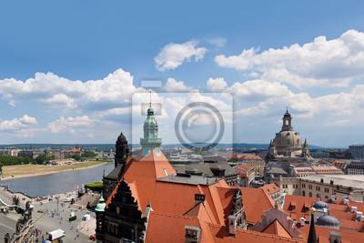 Постер Города и карты Огромная панорама Дрезден, Германия, 30x20 см, на бумагеДрезден<br>Постер на холсте или бумаге. Любого нужного вам размера. В раме или без. Подвес в комплекте. Трехслойная надежная упаковка. Доставим в любую точку России. Вам осталось только повесить картину на стену!<br>