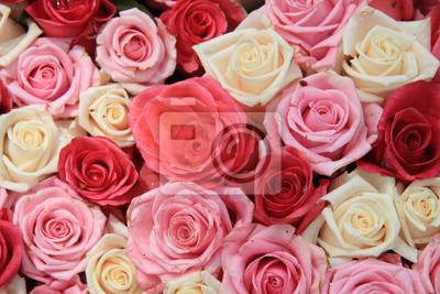 Постер Розы Белые и розовые розы в организацииРозы<br>Постер на холсте или бумаге. Любого нужного вам размера. В раме или без. Подвес в комплекте. Трехслойная надежная упаковка. Доставим в любую точку России. Вам осталось только повесить картину на стену!<br>