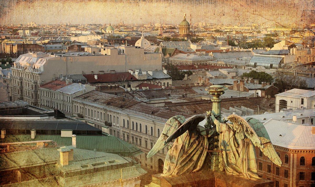 Постер Санкт-Петербург Панорама Санкт-ПетербургаСанкт-Петербург<br>Постер на холсте или бумаге. Любого нужного вам размера. В раме или без. Подвес в комплекте. Трехслойная надежная упаковка. Доставим в любую точку России. Вам осталось только повесить картину на стену!<br>
