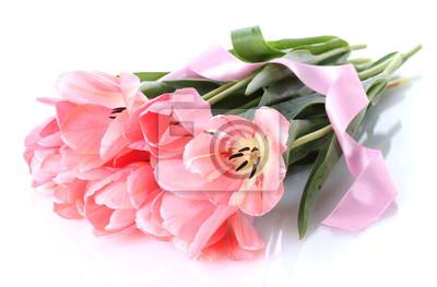 Постер Цветы Красивые розовые тюльпаны, изолированных на белый., 30x20 см, на бумагеТюльпаны<br>Постер на холсте или бумаге. Любого нужного вам размера. В раме или без. Подвес в комплекте. Трехслойная надежная упаковка. Доставим в любую точку России. Вам осталось только повесить картину на стену!<br>
