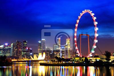 Постер Сингапур Сингапур города ночьюСингапур<br>Постер на холсте или бумаге. Любого нужного вам размера. В раме или без. Подвес в комплекте. Трехслойная надежная упаковка. Доставим в любую точку России. Вам осталось только повесить картину на стену!<br>