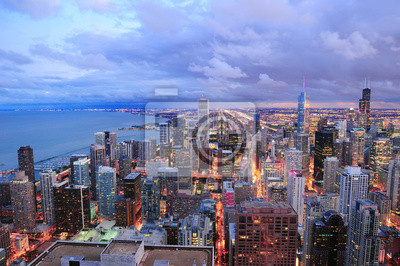 Постер Чикаго Чикаго горизонта панораму с высоты птичьего полетаЧикаго<br>Постер на холсте или бумаге. Любого нужного вам размера. В раме или без. Подвес в комплекте. Трехслойная надежная упаковка. Доставим в любую точку России. Вам осталось только повесить картину на стену!<br>