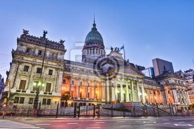 Постер Аргентина Аргентина Национального Конгресса фасада здания, на закат.Аргентина<br>Постер на холсте или бумаге. Любого нужного вам размера. В раме или без. Подвес в комплекте. Трехслойная надежная упаковка. Доставим в любую точку России. Вам осталось только повесить картину на стену!<br>